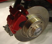 Typical brake disc/caliper